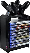 Numskull - PS4 Games Tower & Dual Charger for Dualshock 4 Controller / Gamepad / Joystick - Stores 10 Games - For Sony Playstation 4