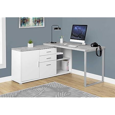 Monarch Specialties White Hollow Core Office Storage Credenza 48 Inch Furniture Decor