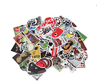 Vinyl Stickers Waterproof Cartoon Car Laptop Skateboard Luggage Label Racing Graffiti Mirror Sticker Book Combination for Auto Truck Vehicle Motorcycle Decal (100pcs)