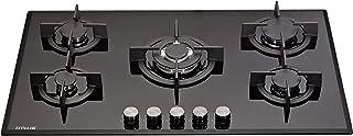 Millar - GH9051PB - Plaque de cuisson au gaz, en verre, 5 feux, 90 cm