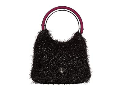 Kate Spade New York Betty Tinsel Swag Bag (Black) Bags