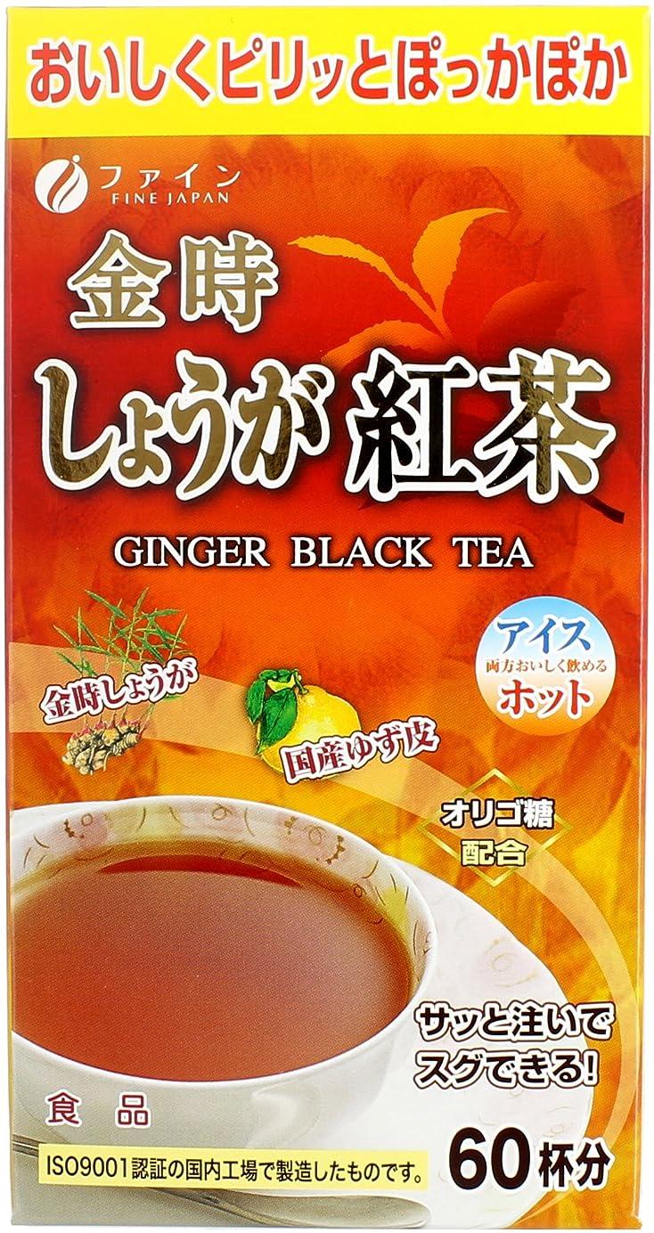 苦味登山家水を飲むファイン 金時しょうが紅茶 60杯分