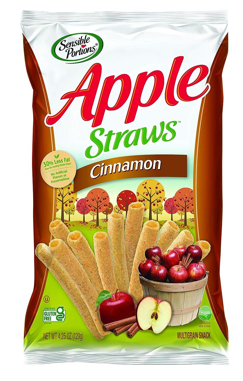 Sensible Portions Apple Straws Cinnamon, 6 oz (Pack of 5)