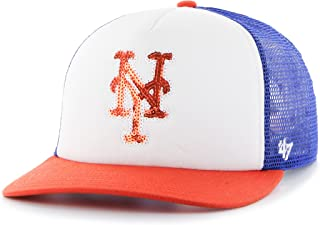 '47 MLB New York Mets Women's Glimmer Captain Adjustable Snapback Hat, Royal