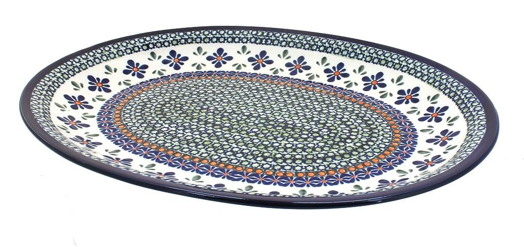 Polish Pottery Mosaic Flower Large Oval Serving Platter