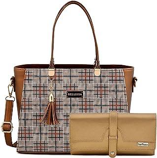 BELLISSA Cooper Women's PU Leather Handbag Combo (Gold)