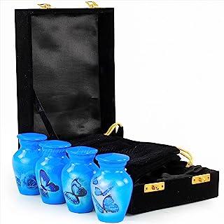 Nagina International Keepsake Urns Small for Human Ashes Set of 4 | Mini Funeral Cremation Pot with Velvet Box | Cremated ...