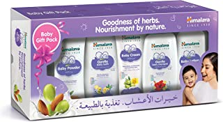 Himalaya Herbals- Baby Care Gift Pack Consists of Baby Lotion, Baby Powder, Baby Cream, Gentle Baby Shampoo & Baby Bath. A...