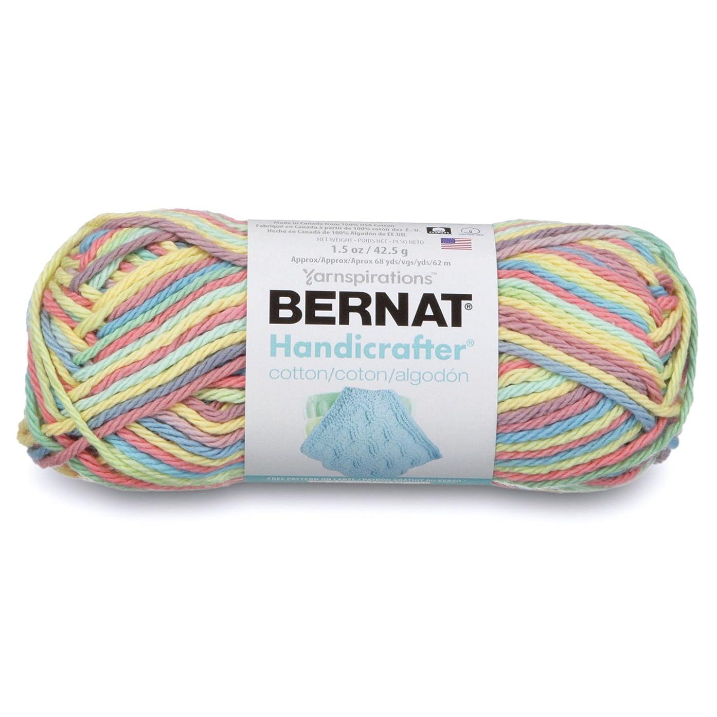 Bernat Handicrafter Cotton Ombre Yarn, 1.5 oz, Gauge 4 Medium, 100% Cotton, Candy Spinkle Ombre