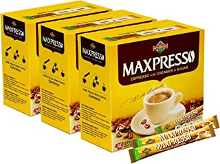 Maxpresso Instant Coffee, Espresso, 50 sticks (Pack of 3)