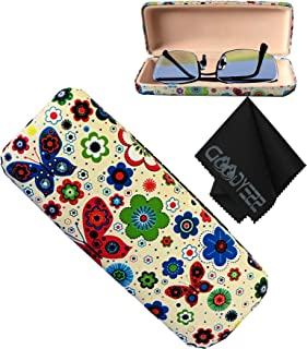 Glasses Case Hard Shell Holder For Reading Eyeglasses Eyewear W/Cleaning Cloth