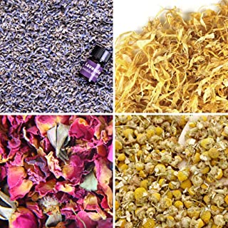 dried flowers for bath salts
