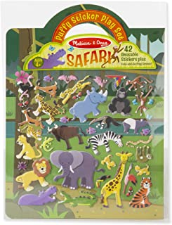 Melissa & Doug Safari Puffy Sticker Play Set (Activity Pads, Reusable Puffy Sticker Play Set, 42 Stickers, Great Gift for Girls and Boys – Best for 4, 5, 6, 7 and 8 Year Olds)