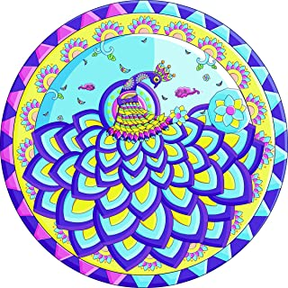 Bgraamiens Puzzle-Blue Ballet Fairy-1000 Pieces Round Puzzle Color Challenge Jigsaw Puzzles for Adults and Kids
