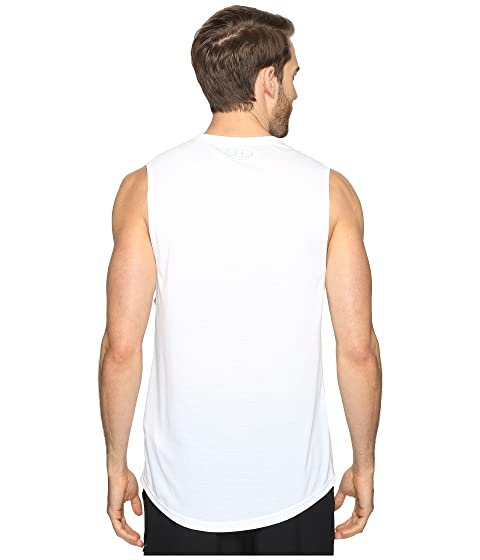Under Armour UA Threadborne Muscle Tank Top White With Credit Card For Sale Clearance Affordable Clearance Limited Edition ZsaJx5jn