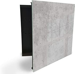 206113597 Armoire à clés avec façade en verre magnétique 30 x 30 cm