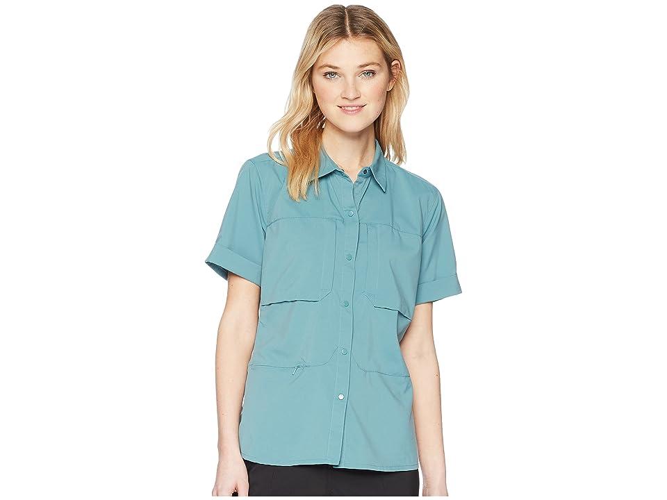 Mountain Hardwear Canyon Protm Short Sleeve Shirt (Lakeshore Blue) Women