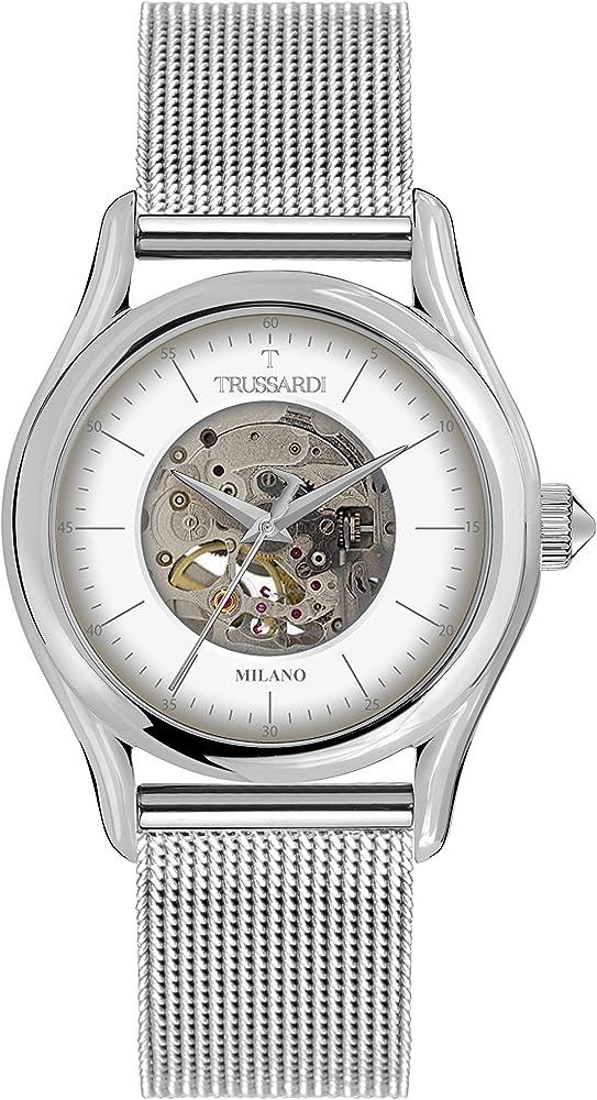 Trussardi, orologio automatico per uomo,in acciaio inossidabile R2423127001