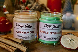 Cozy Glow Christmas Cinnamon Spice Duo Soy Candle Gift - Personalisable