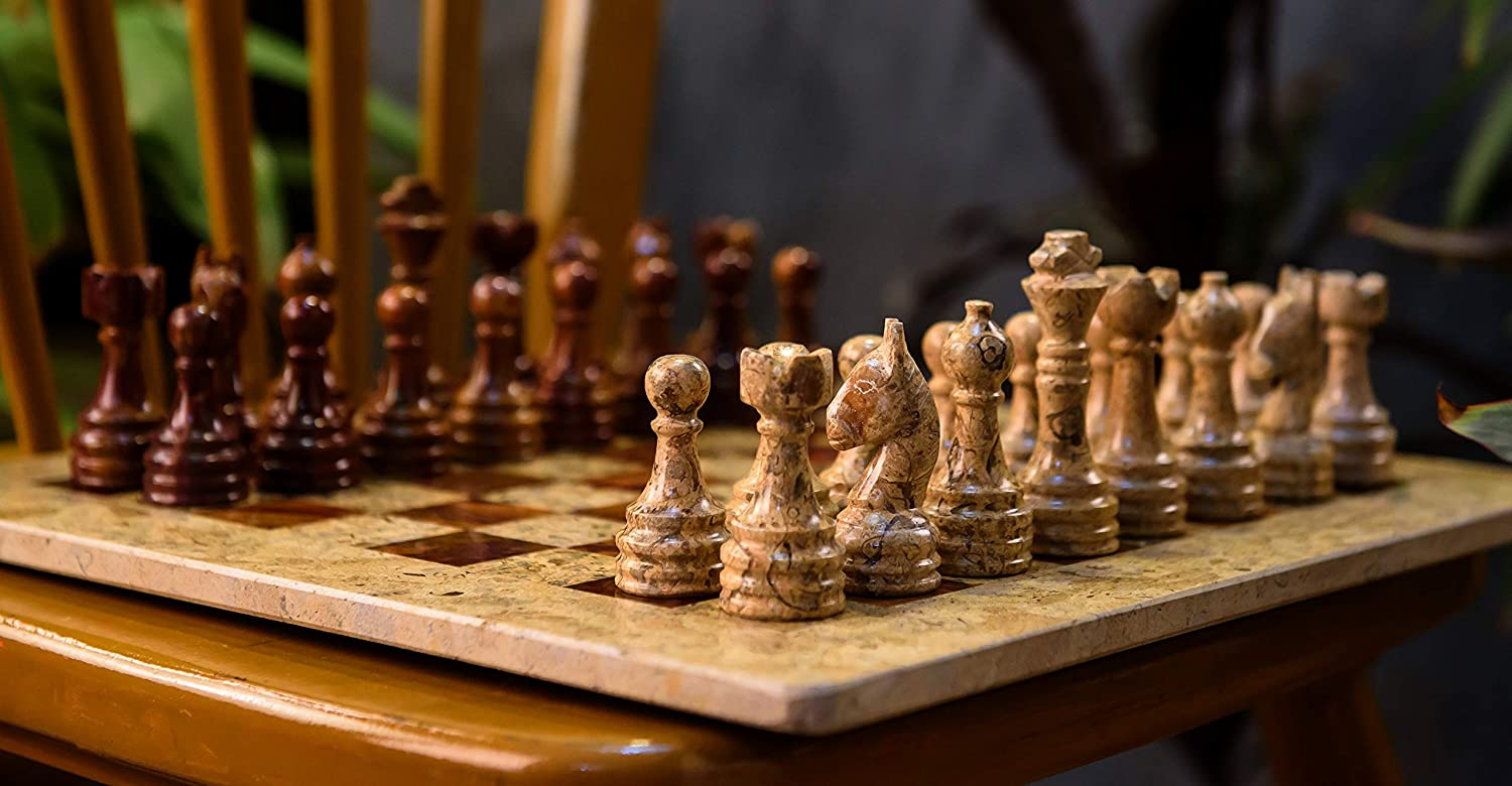 15 Inches Free shipping / New Dark and Light Brown Unique Weighted - Set shopping Chess