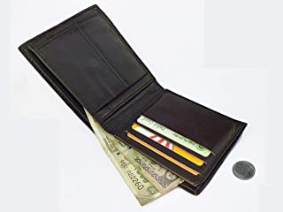 AK Genuine Leather Men Casual Wallet 7 Card Slots