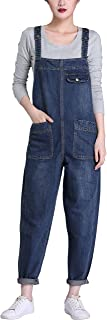 Women's Casual Denim Bib Cropped Overalls Pant Jeans Jumpsuits