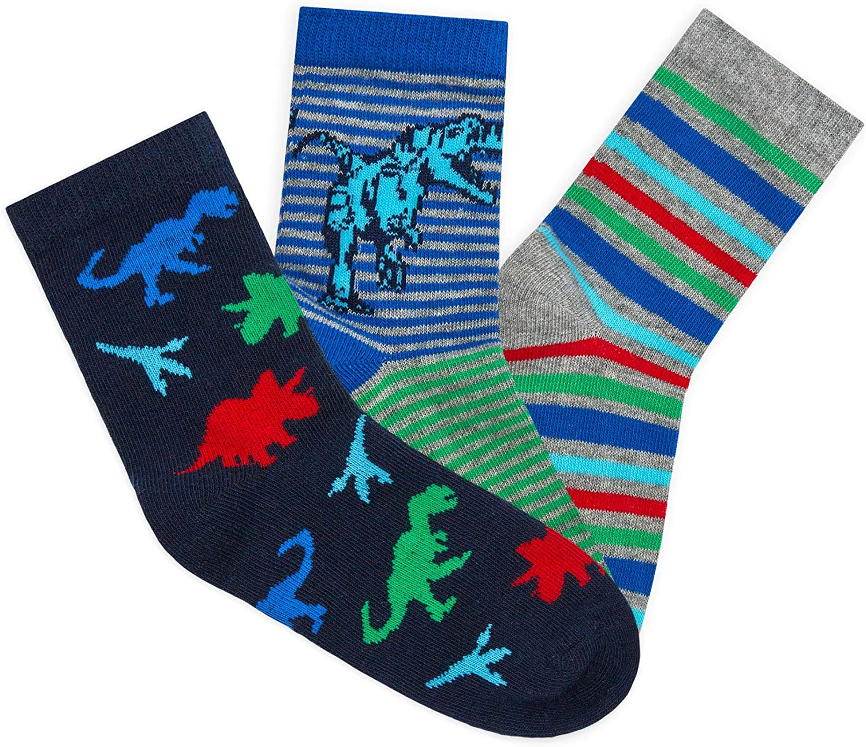JollyRascals Boys Socks 3 Pairs Ankle Socks Kids New Camo Dino UK Size 6-8.5 9-12 12-3.5
