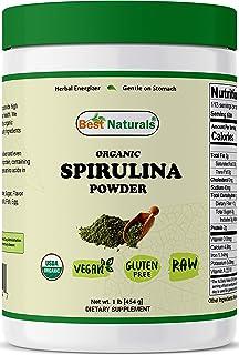 Best Naturals Certified Organic Spirulina Powder 1 Pound (454 Grams)