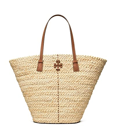 Tory Burch Mcgraw Straw Shopper Tote (Natural) Handbags