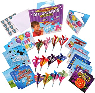 Red Robin Greeting - 32 Kids Birthday Cards - All Occasion Greeting Card Assortment - Bulk Happy Birthday Cards - Assorted Cards For All Occasions