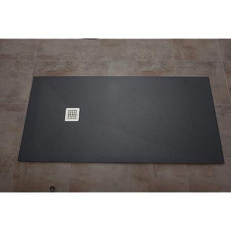 Plato de ducha antideslizante y de f/ácil colocaci/ón. textura PIZARRA BLANCO 70x100 cm MASAL TECH DESING