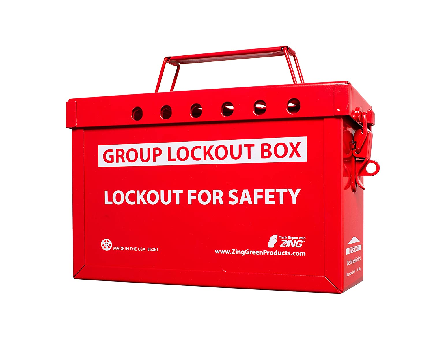 Zing Green Ranking TOP20 Products 6061R RecycLockout Red Box 40% OFF Cheap Sale Lockout Group