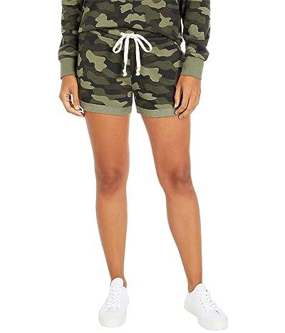 Alternative Cozy Lightweight French Terry Shorts (Green Shaded Camo) Women