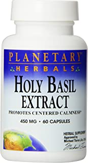Planetary Herbals Holy Basil Capsules, 60 Count