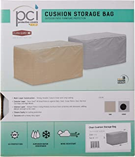 Protective Covers Weatherproof Small Storage Bag for Chair Cushions, Gray