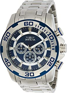 Invicta Men's Pro Diver Stainless Steel Quartz Watch with Stainless-Steel Strap, Silver, 26 (Model: 22319)