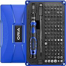 ORIA Conjunto de chave de fenda de precisão 106 em 1 com chave de fenda magnética Torx de 102 bits com estojo Ferramenta d...