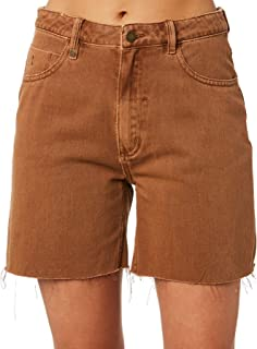 Thrills Women's Thelma Drill Short Cotton Fitted Brown