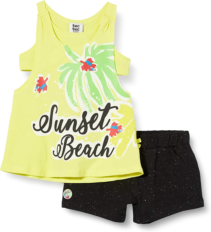 Vestido Punto Y Denim SIN Mangas NI/ÑA Amarillo Sunset Beach
