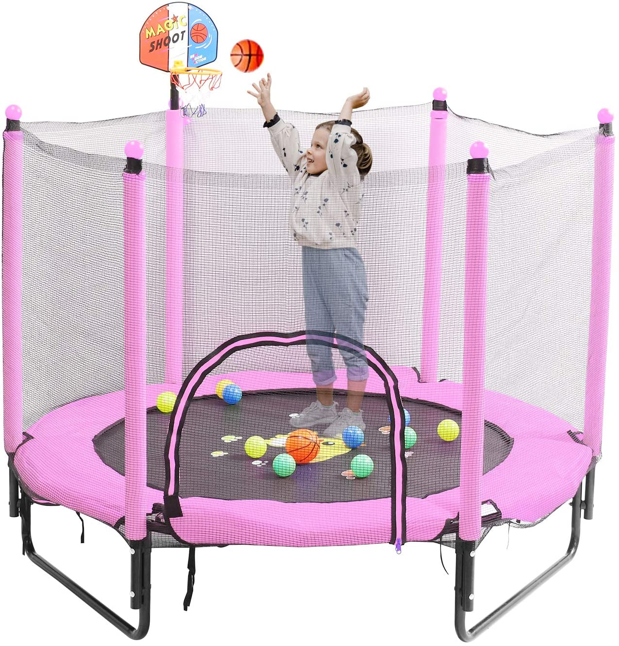Trampoline for Kids 5 FT Bulit Outdoor 2021new shipping free shipping Toddler Indoor Max 48% OFF