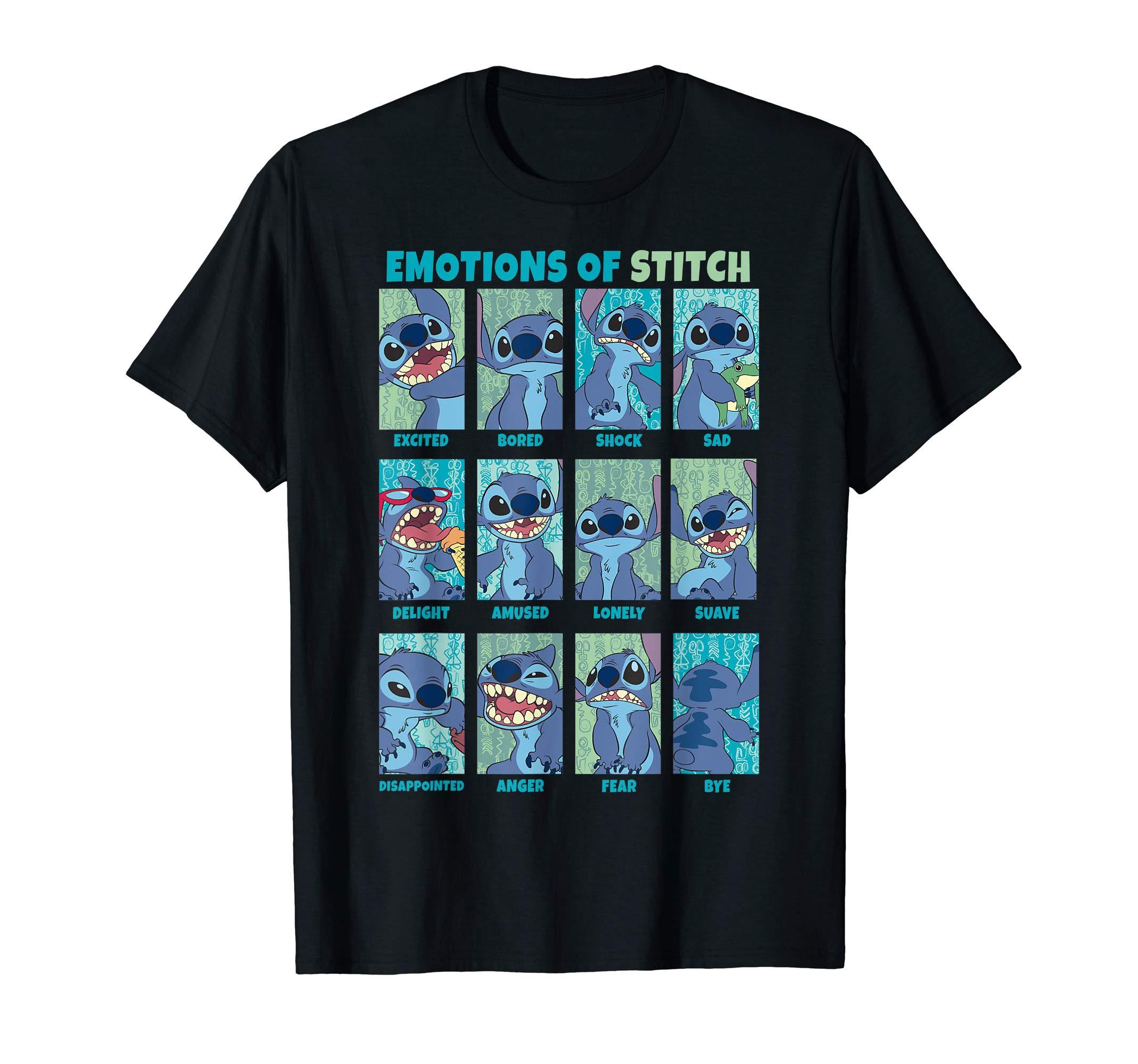 Lilo & Stitch Emotions Of Stitch Panels T-Shirt