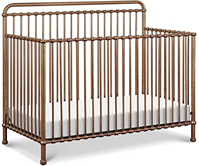 Million Dollar Baby Classic Winston 4-in-1 Convertible Crib in Vintage Gold
