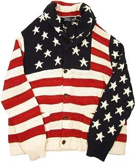 Polo Ralph Lauren Mens Medium USA Flag Cardigan Sweater