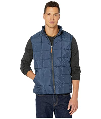 J.Crew Box Quilted Vest (Faded Navy) Men