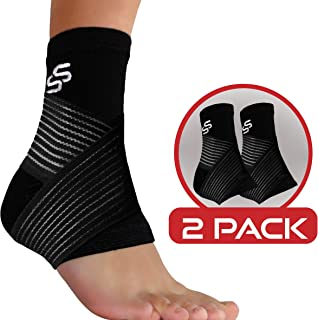 Ankle Brace for Plantar Fasciitis Support - Women & Men – Pain Relief Foot Sleeve (Pair)
