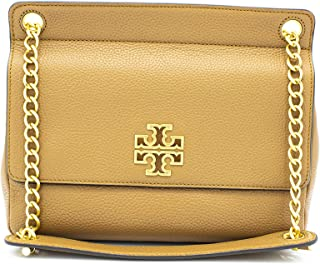 Tory Burch 67295 Brown Britten Flap Women's Shoulder Bag