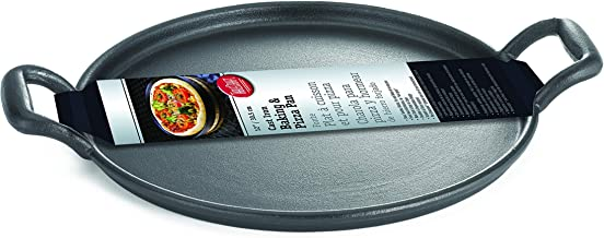"TableCraft 13.5"" Pre-Seasoned Cast Iron Baking and Pizza Pan 