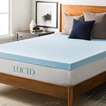 LUCID 3-inch Ventilated Gel Memory Foam Mattress Topper - Full XL