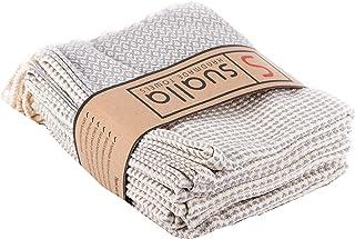 Sualla 100% Cotton - Aegean Turkish Hand Towel - Silver Grey (Set of 4)