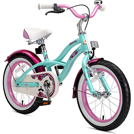 "BIKESTAR Bicicleta Infantil para niños y niñas a Partir de 4 años | Bici 16 Pulgadas con Frenos | 16"" Edición Cruiser"